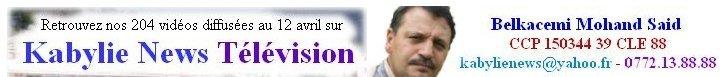 Kabylie (Algérie) Agence Free Presse de BMS – Septembre 2012 kABYLIENEWStvCCP